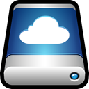 Cloud, icloud, storage, drive, External, Data Black icon