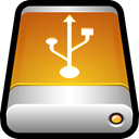 Usb, drive, External, storage, Disk, Data, save Goldenrod icon