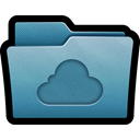 icloud, Cloud, mac, Folder, Cloud storage, storage SteelBlue icon