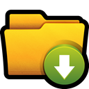 save, Folder, win, files, download Gold icon