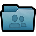 network, Folder, mac, share SteelBlue icon