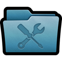 Folder, repair, mac, preferences, tools, Utilities, configuration SteelBlue icon