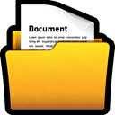 Folder, my, documents, win, office Gold icon