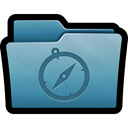 Folder, mac, Sites, Favorites, websites, bookmarks, web SteelBlue icon