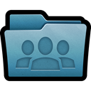 Folder, mac, group, documents, Users, team SteelBlue icon