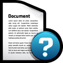 help, Alert, document, File Black icon