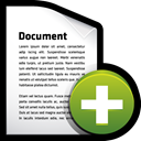 document, create, File, Add Black icon
