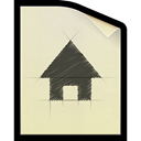 Sketch, document, plan, File Wheat icon