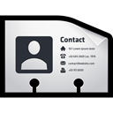 Contact, card, vcf, name Black icon