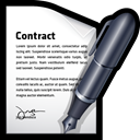 document, Edit, write, contract Black icon