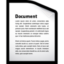 document, word, File Black icon