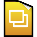 keynotes, google, slides, docs, Presentation Goldenrod icon