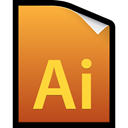 adobe, cs5, illustrator, File Chocolate icon
