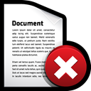 document, delete Black icon