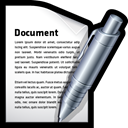 Edit, write, create, word, document Black icon