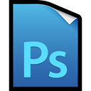 photoshop, adobe, cs5, File SteelBlue icon