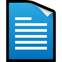 docs, google, word, document, Doc DodgerBlue icon