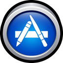 store, download, App, mac, App store RoyalBlue icon