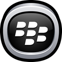phone, Blackberry, Social Black icon