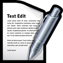 Edit, word, write, Text, mac Black icon