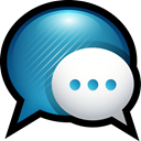 Chat, sms, messages, facetime, mac Black icon
