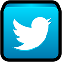 social network, tweet, twitter, hashtag DeepSkyBlue icon