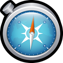 compass, mac, Browser, Apple, chrome, safari SteelBlue icon