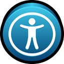 Universal, mac, Access, public Teal icon
