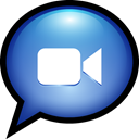 Text, mac, facetime, ichat SteelBlue icon