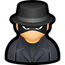 hat, Cyber, undercover, spy, user DarkSlateGray icon