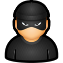 criminal, Bad, thief, cybercriminal, user DarkSlateGray icon