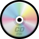 compact disc, optical media, Cd, Rw Black icon