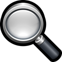 Find, magnifying, look, search, glass Black icon