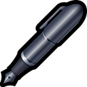 word, Pen, Caligraphic, Edit, write Black icon