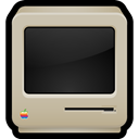Classic, old, Macintosh, Crt, Computer Silver icon