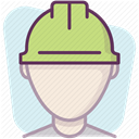 security, Control, Building, work, Construction, Protection, Accident prevention Lavender icon