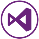 webdevelop, microsoft, visualstudio Purple icon