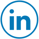 Linkedin, linked, Social, In DarkCyan icon