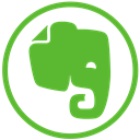 Social, elephant, Evernote LimeGreen icon