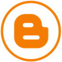 blogger, Blogging, blog DarkOrange icon