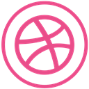 dribbble, Social, Communication PaleVioletRed icon