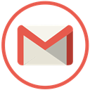 gmail, google, mail Black icon