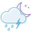 ranny, thunderstorm, night AliceBlue icon