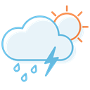 day, thunderstorm, ranny AliceBlue icon