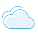 Cloudy, weather AliceBlue icon