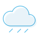 Couldy, rainyday, rainy AliceBlue icon