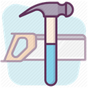 tools, work, Building, Construction, repair, construction tools, hand tool Lavender icon
