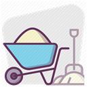 Building, construction tools, repair, hand tool, tools, work, Construction Lavender icon