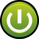 Boot, start, power, on, switch, off OliveDrab icon