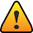 warning, Alert, danger, notification Goldenrod icon